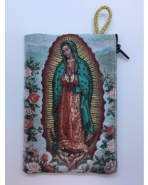 Our Lady of Guadalupe Kilim Rosary Medium Bag-Roses