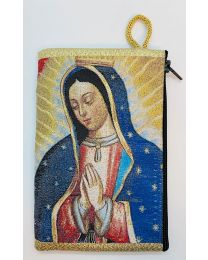 Our Lady of Guadalupe Kilim Rosary Medium Bag-Bust