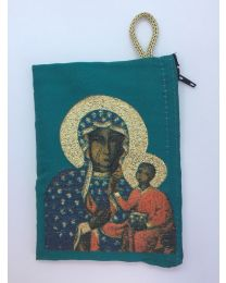 Our Lady of Czestochowa Kilim Rosary Medium Bag