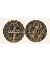St. Benedict Token with Bronze Tone Finish