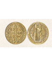 St. Benedict Token with Gold Tone Finish