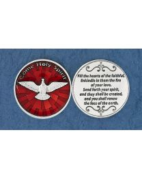 Come Holy Spirit Token - Enameled