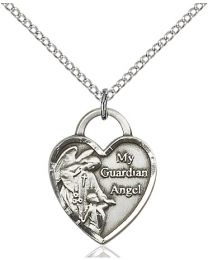 Guardian Angel Heart Medal