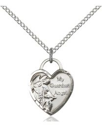 Guardian Angel Heart Medal
