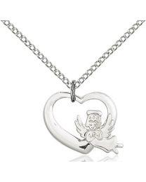 Heart / Guardian Angel Medal