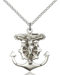Anchor Crucifix Medal