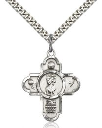 5-Way St Christopher/Sports Medal