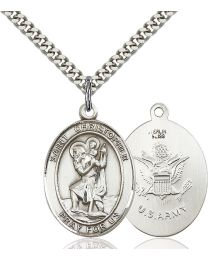St. Christopher / Army Medal