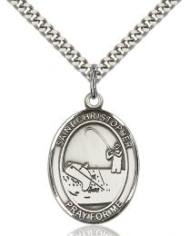 St. Christopher / Fishing Medal