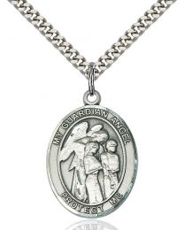 Guardian Angel W/Children Medal