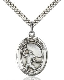 St. Christopher / Football Medal