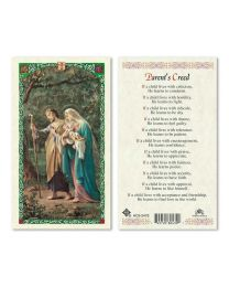 Holy Family - Parent's Creed