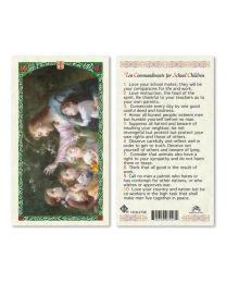 Jesus with Children - Ten Commandments for School Children