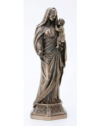 "11"" Mary Holding Infant Jesus Bronze Statue"