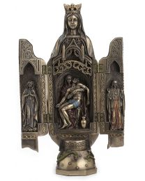 "11.25"" Our Lady of Grace Plyptych Sculpture of Pieta"