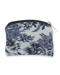White & Blue Brocade Case