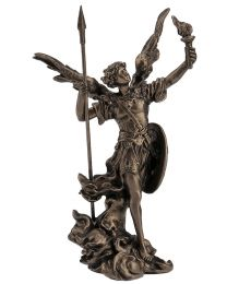 """4"""" Archangel Uriel - Bronze Style Statue"""