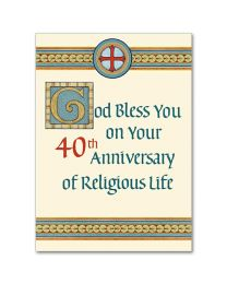 40th Annviersary of Religious Life Card