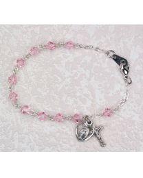 4mm Pink First Communion Bracelet