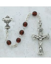 5mm Garnet First Communion Rosary