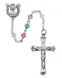 Sterling Silver Multicolor Swarovski Crystal Rosary