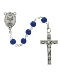 6mm Blue First Communion Rosary