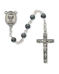 6mm Hematite First Communion Rosary