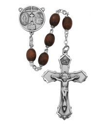 Brown Wood 4-Way Center Rosary