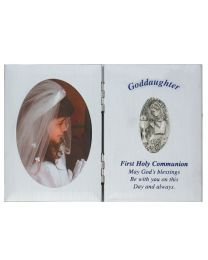 Silver Goddaughter First Communion Plaque