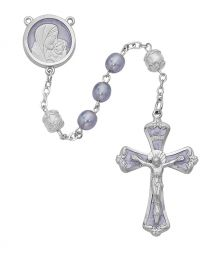 Mother & Child Lavender Pearl Rosary