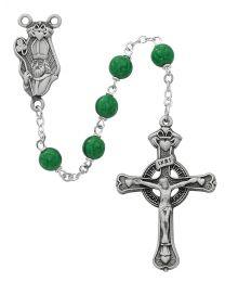 Green Glass Bead St. Patrick Rosary
