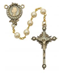 Vintage Pearl Blessed Mary Rosary