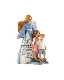 "8"" Guardian Angel with Kids Statue"