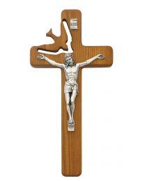 """8"""" Holy Spirt Crucifix Hardwood"""