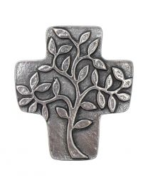 Abundance Tree of Life Wall Cross - Solid Bronze & Silver-Nickel Finish