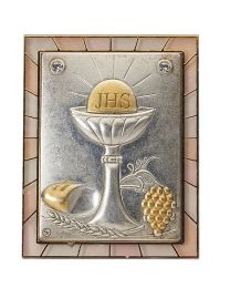 First Communion Silver/Gold Plaque