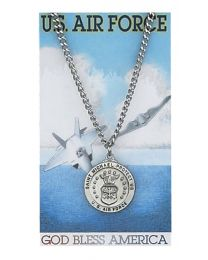 Air Force Prayer Card with Medal