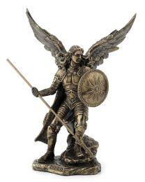 "9.5"" Archangel Raphael - Bronze Style Statue"