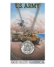 Army Prayer Card with Medal