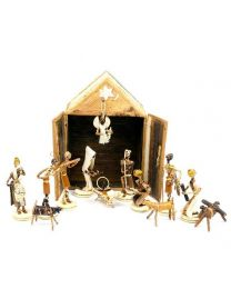 Banana Fiber Nativity Stable