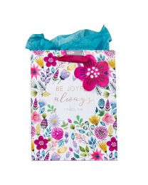 Be Joyful Always Multicolored Gift Bag with Tissue Paper - 1 Thessalonians 5:16