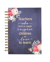 Best Teacher Ever Large Wirebound Journal