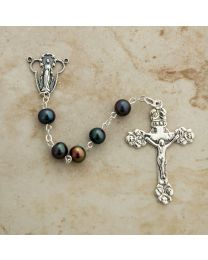 Black Freshwater Pearl Rosary