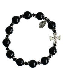 Genuine Black Onyx Rosary Bracelet