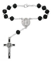 Black St. Benedict Auto Rosary