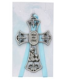 "3.5"" Bless This Child Blue Cross"