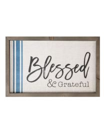 Blessed and Grateful Plaque