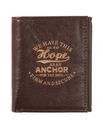Brown Leather Wallet - Hope