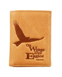Brown Leather Wallet - Isaiah 40:31