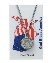 Coast Guard Prayer Card with Medal